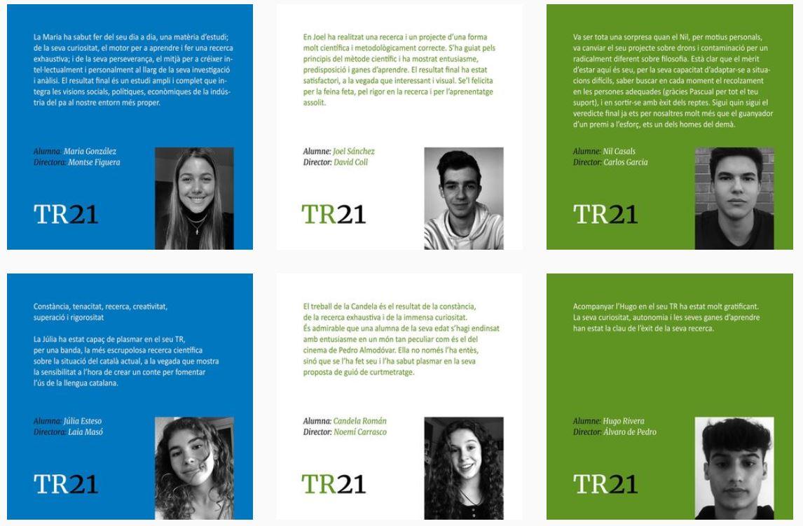 XVIè Premi Fundació Escoles Garbí de Treball de Recerca